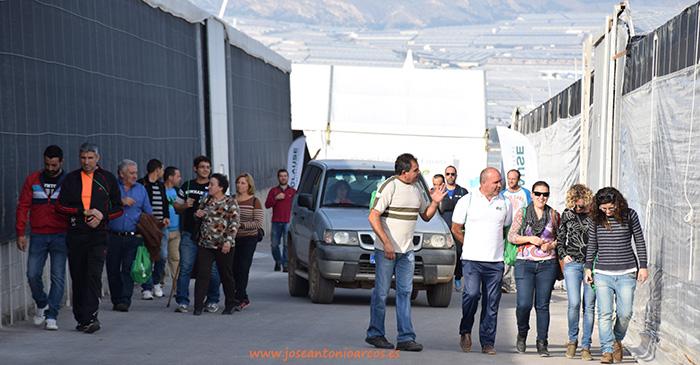 Agricultores visitan la finca de ensayos de HM Clause en Las Norias, El Ejido, Almería