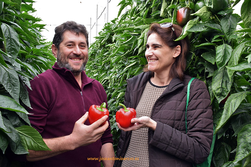 Jose Manuel Crespo y Ana Fontan, agricultores de Balanegra