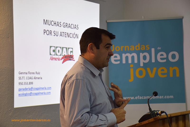 Andrés Góngora, secretario de Coag-Almería, en la EFA Campomar
