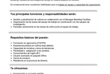 Vacante Supervisor Greenhouse