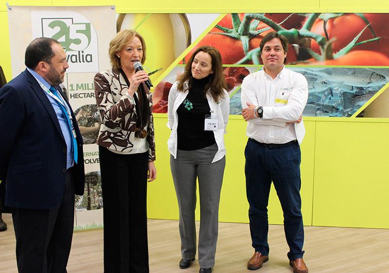Consejera andaluza de Agricultura en-el-aniversario-de-Ecovalia