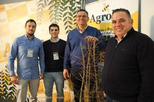 Empresarios de Los Palacios, Sevilla, en el stand de Agrobío