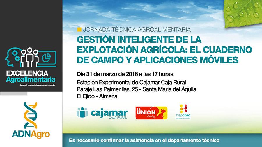 Día 31 de marzo. Gestión inteligente de la explotación agrícola: El cuaderno de campo y aplicaciones móviles