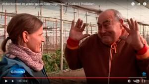 Agricultores almerienses en una televisión alemana