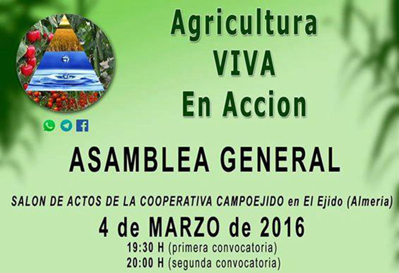 Día 4 de marzo. Asamblea General 'Agricultura Viva en Acción'