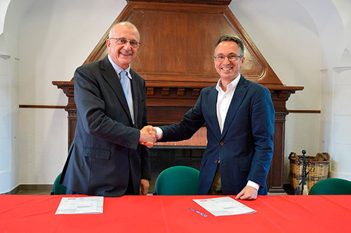 Director General del IRTA, Josep M. Monfort y el Presidente de CT TECNOVA, Ángel Barranco