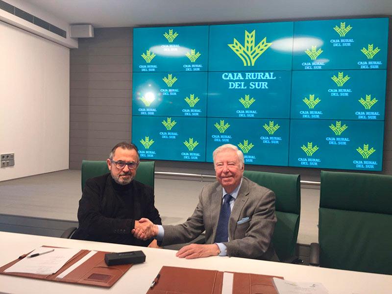 Gabriel Camhi, director de Wise; y José Luis García, presidente de la Fundación Social y Cultural Caja Rural del Sur