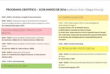Día 10 de marzo. Jornada en Murcia sobre poscosecha y mejora genética