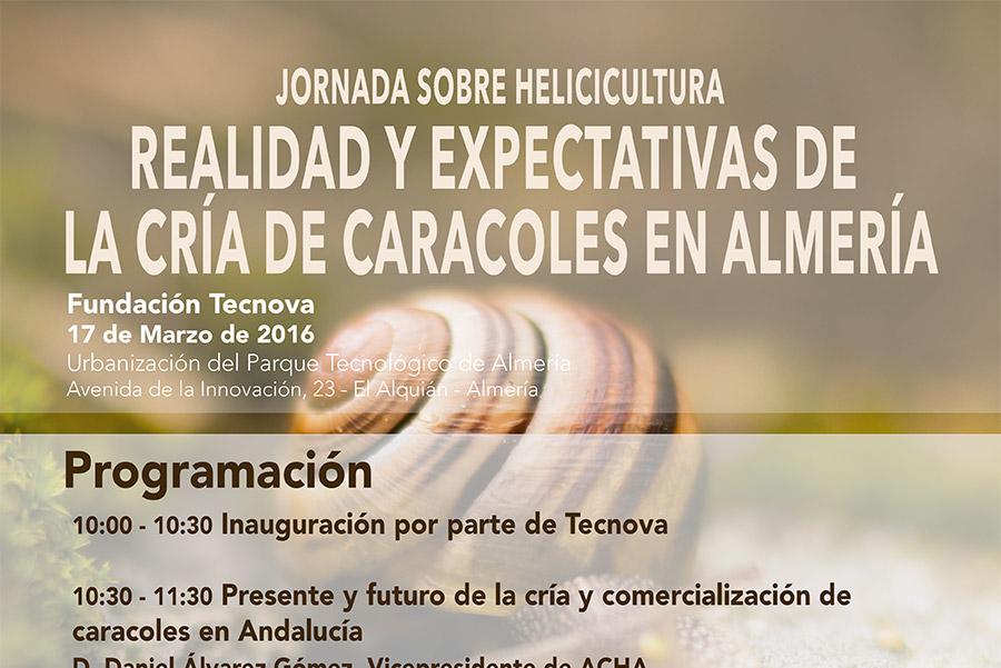 Día 17 de marzo. Jornada sobre helicicultura en Tecnova