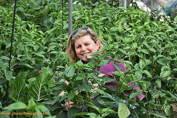 Marina Alonso, agricultora de pepino de Castell de Ferro, Granada