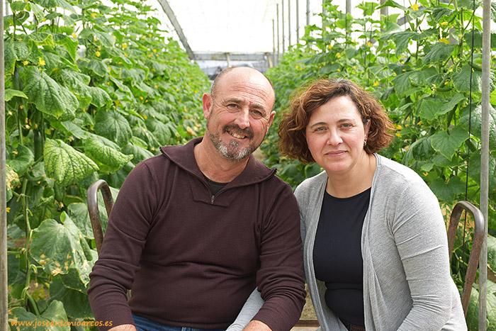 Miguel López y Lucía Gómez, agricultores de Castell de Ferro, costa de Granada