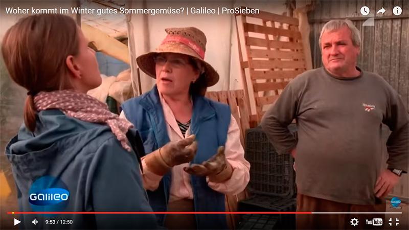 matrimonio de agricultores de Almería en una televisión alemana