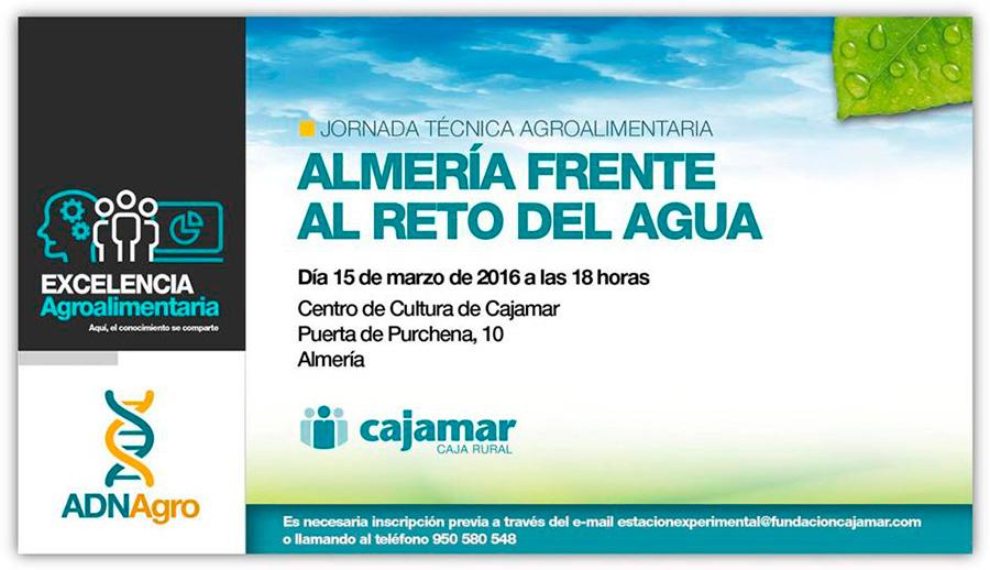 Día 15 de marzo. Jornada Almería frente al reto del agua
