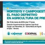 Día 10 de marzo. Jornada Hortisys y Campogest el paso definitivo en agricultura de precisión