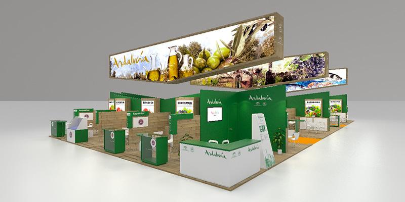 Expositores andaluces en la feria Alimentaria 2016 que se celebra en Barcelona
