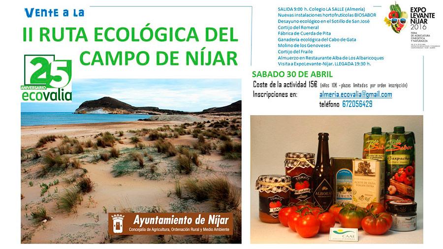 Día 30 de abril.  II Ruta ecológica por el campo de Níjar