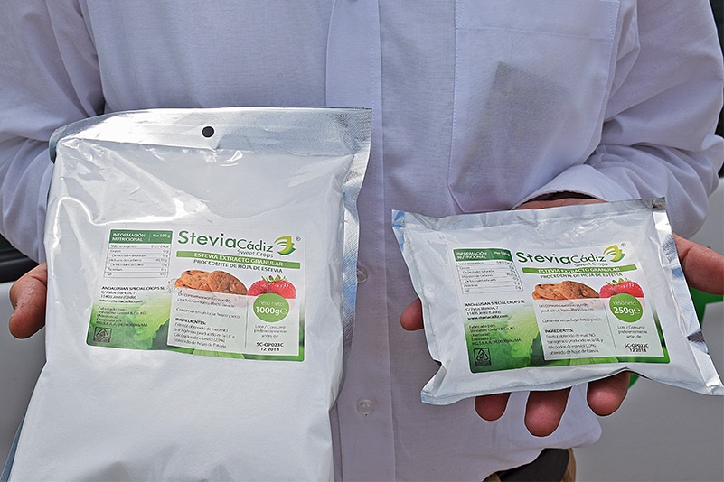 Stevia granulada