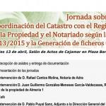 Día 13 de abril. Jornada sobre los catastros en la agricultura