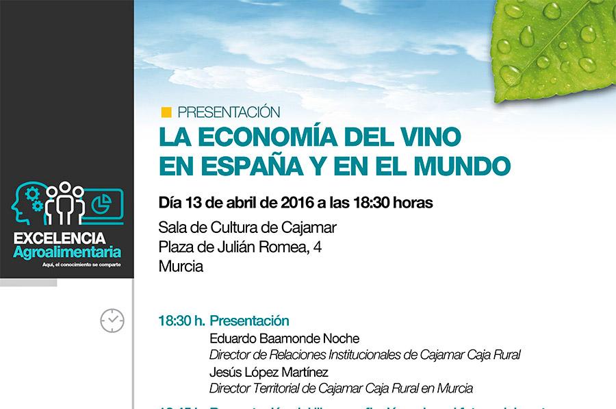 Día 13 de abril. Jornada 'La economía del vino en España y en el mundo'