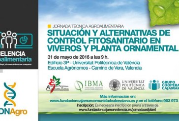 Día 31 de mayo. Control fitosanitario en viveros y ornamentales. Valencia