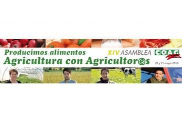 COAG celebra los próximos 20 y 21 de mayo en Madrid su XIV Asamblea General