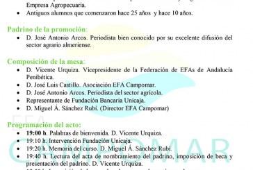 Día 26 de mayo. Clausura del curso 2015-2016 de EFA Campomar