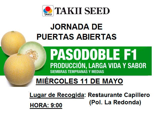 Día 11 de mayo. Jornada de melón galia de Takii Seed