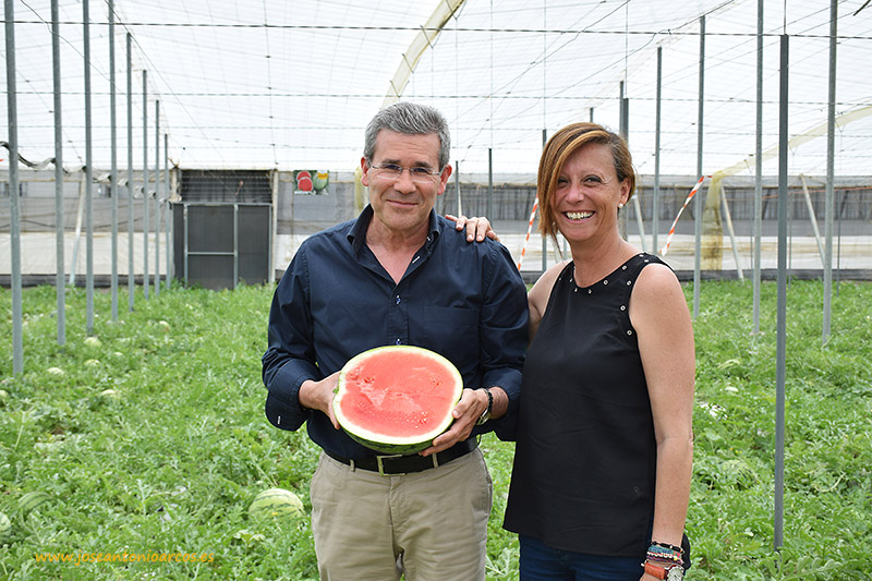 Pedro Caparrós, Grupo Caparrós; y Mercedes Fernández, Bayer CropScience .