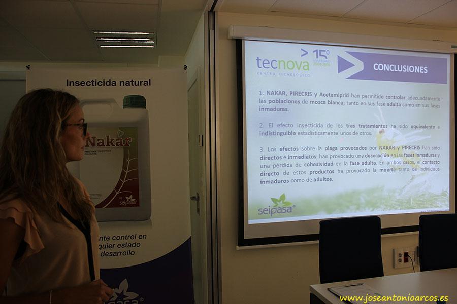 Carolina Sánchez es técnico de producción integrada de Tecnova.
