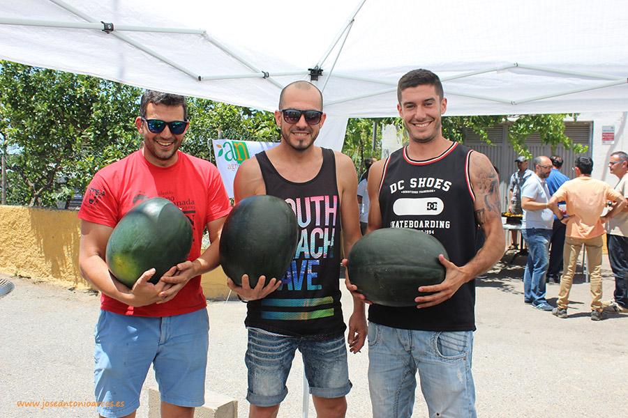 Francisco Martínez, Manuel Torres y Abel Alonso, jóvenes agricultores de La Cañada.