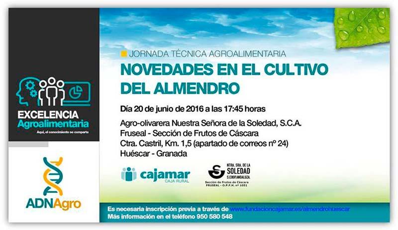 Día 20 de junio. Jornada 'Novedades en el cultivo del almendro'. Granada
