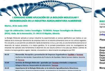 Día 28 de junio. I jornadas sobre biología molecular y microbiología en la industria alimentaria.Tecnova