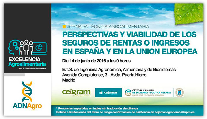 Día 14 de junio. Viabilidad de los seguros de rentas o ingresos en España y en la UE. Madrid