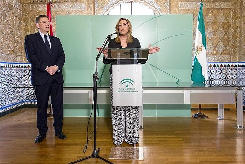Susana Díaz 'promete' 20 millones para modernizar invernaderos