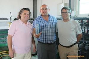 Pedro Artés, Andreus Andriusautis y Francisco Torralba.