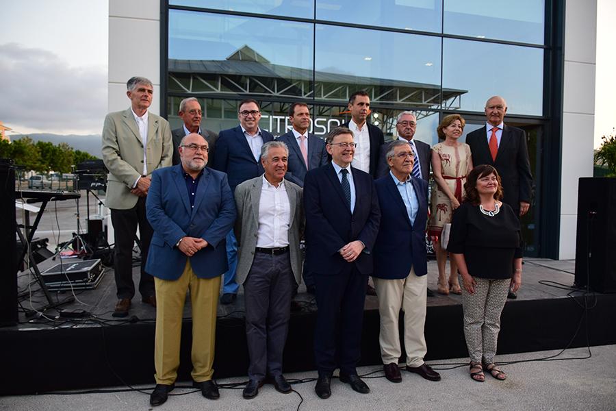 Autoridades institucionales en la inauguración de Citrosol