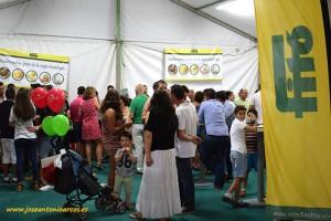 Expositor de Semillas Fitó en la feria Membrilla, de La Mancha.