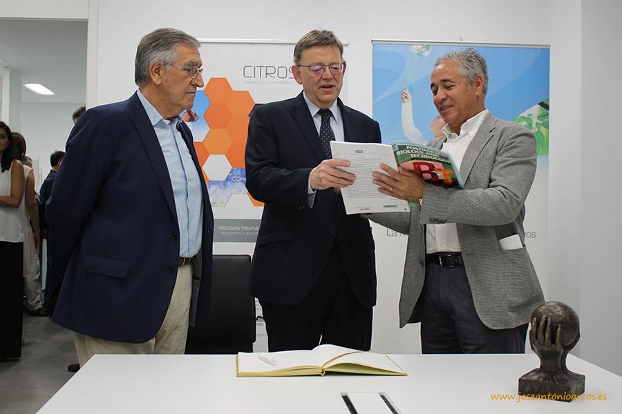 Juanjo Febrer, Ximo Puig y Benito Orihuel