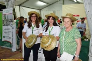 Expositor de Semilleros El Plantel en Ferimel 2016, feria agrícola del melón manchego.