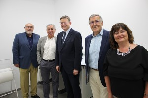 Ximo Puig, Benito Orihuel, Juanjo Febrer y Assumpta Domínguez