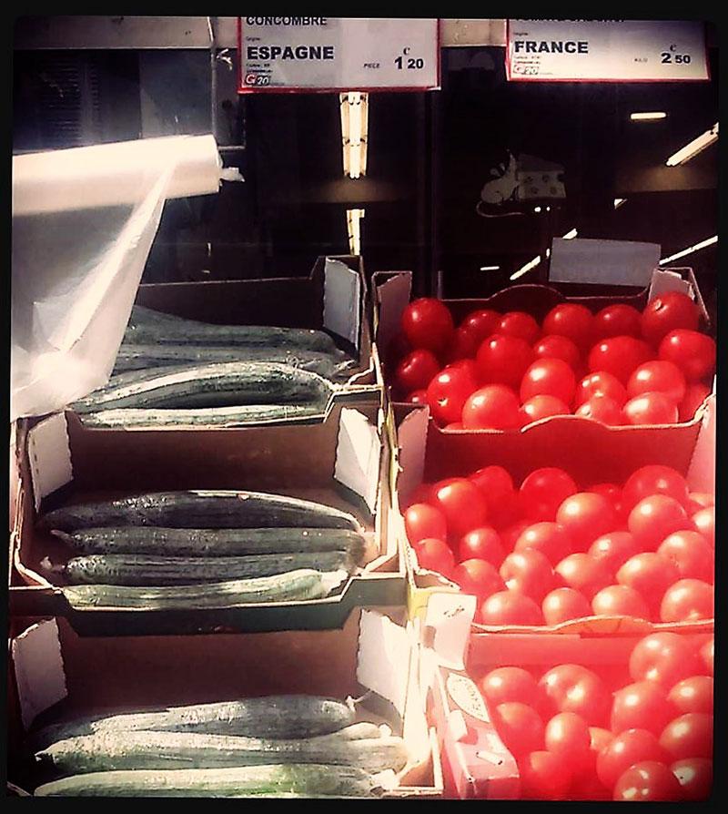 París Francia tomate francés tomate y pepino de Almería
