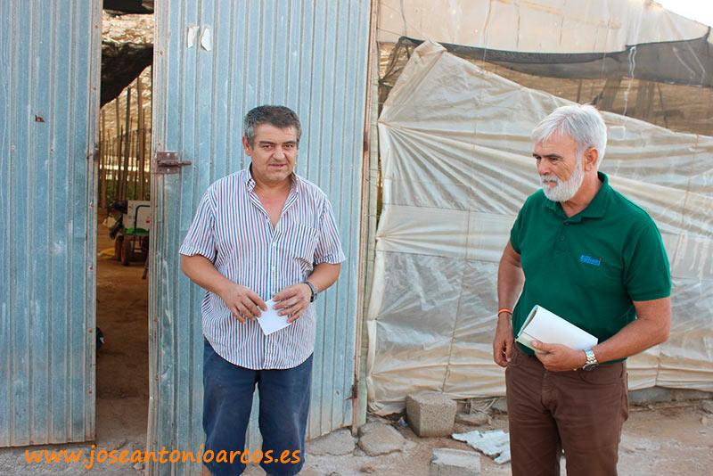 Pepe Añez, agricultor, y José Marín, técnico.