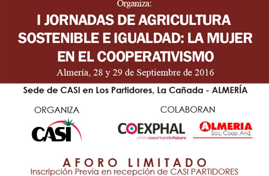 Días 28 y 29 de septiembre. CASI organiza  I Jornadas de agricultura sostenible e igualdad