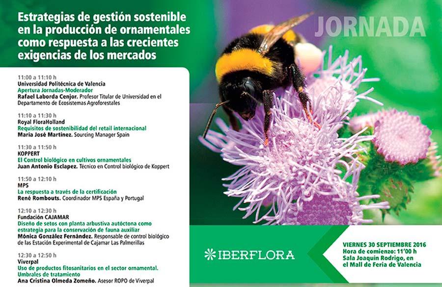 Día 30 de septiembre. Jornada sobre estrategias de producción sostenible de ornamentales. Valencia