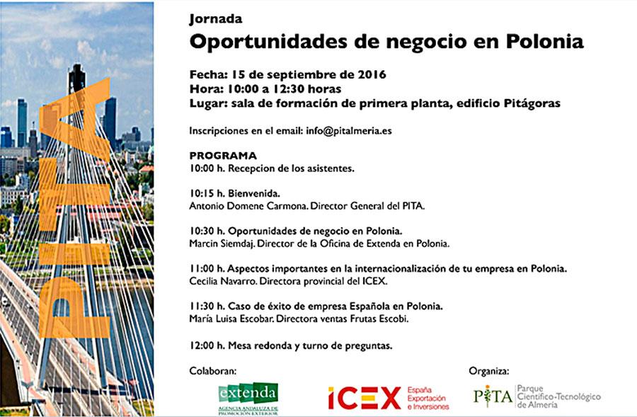 Día 15 de septiembre. Jornada 'Oportunidades de negocio en Polonia'