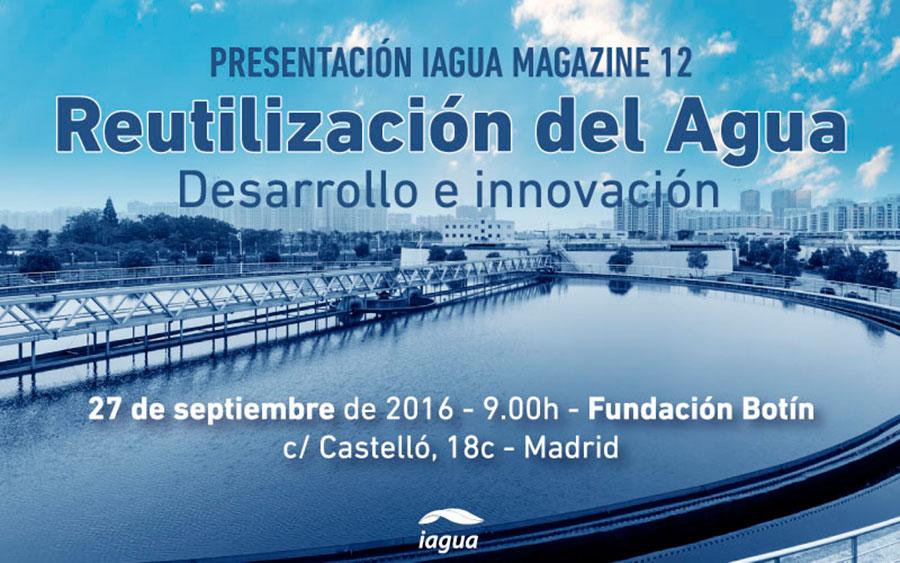 Día 27 de septiembre. iAgua Magazine aborda el reto de la 'Reutilización del agua'