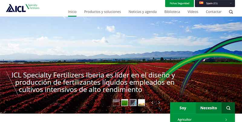 Nueva web de ICL Specialty Fertilizers.
