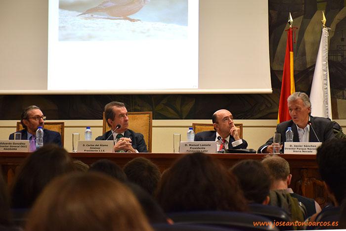 El director del Parque Nacional de Sierra Nevada en las jornadas sobre Cambio Climático organizada por la Fundación Lafer en Madrid.