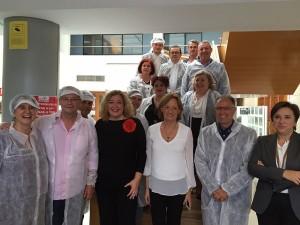 Eurodiputados de la UE en la cooperativa granadina La Palma. Tomate cherry y pepino tipo Almería u holandés
