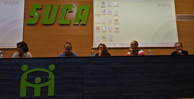 Mª Antonia Elorrieta, Dirk Jassen, Leticia Ruiz, Óscar Crespo y Paco Sola.